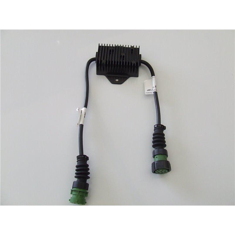 BOITIER CONTROLE CLIGNOTANT LED OB+4  8 POLES DROIT