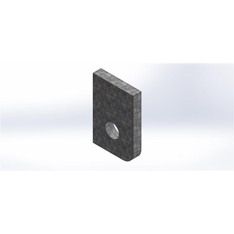 Oxycoupe cale d'épaisseur 4mm  OBLIC+ ICELANDIC