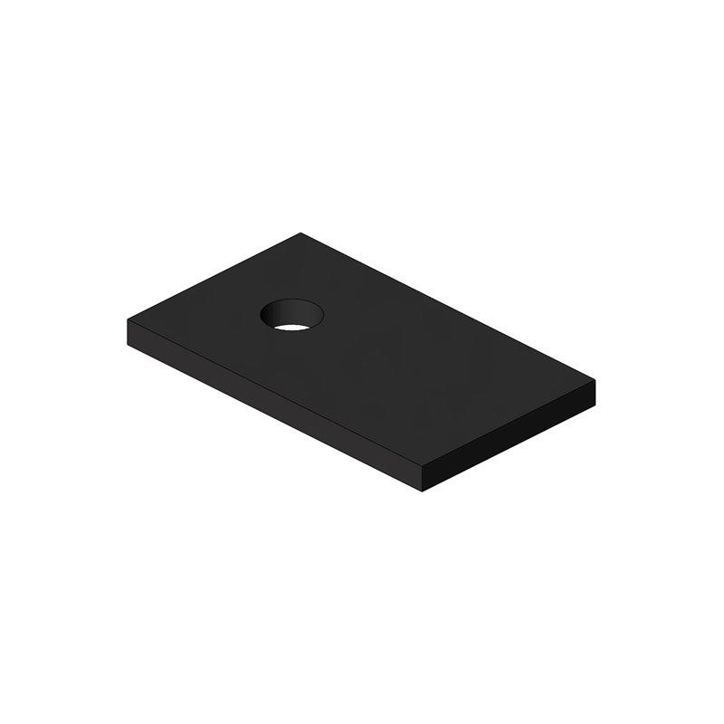 CALE D'EPAISSEUR 80X50X6 PLATINE OBLIC+ SAV