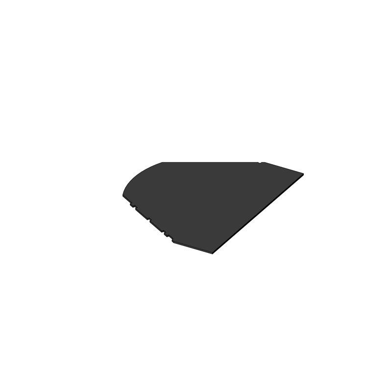 PANNEAU PE/PP 1420X1810X18 PLANCHER NEZ AVANT OBLIC+