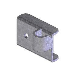 PLATINE INT. SUPPORT SEPARAT. BAT-FLANC GAUCHE PONT AV. (INF.) OBLIC +