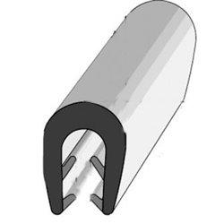 PROFIL EPDM NOIR CLIPSABLE 9X12X3.5MM 1132576 50M PORTE AV OBLIC+ PROVAN