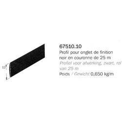 PROFIL PVC SOUPLE 80SH ONGLET FINITION NOIR 21X25000MM