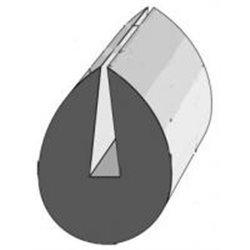 PROFIL CAOUTCHOUC PORTE ARRIERE OLYMPIUM réf:740 50M