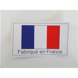 AUTOCOLLANT FABRIQUE EN FRANCE 75X45MM