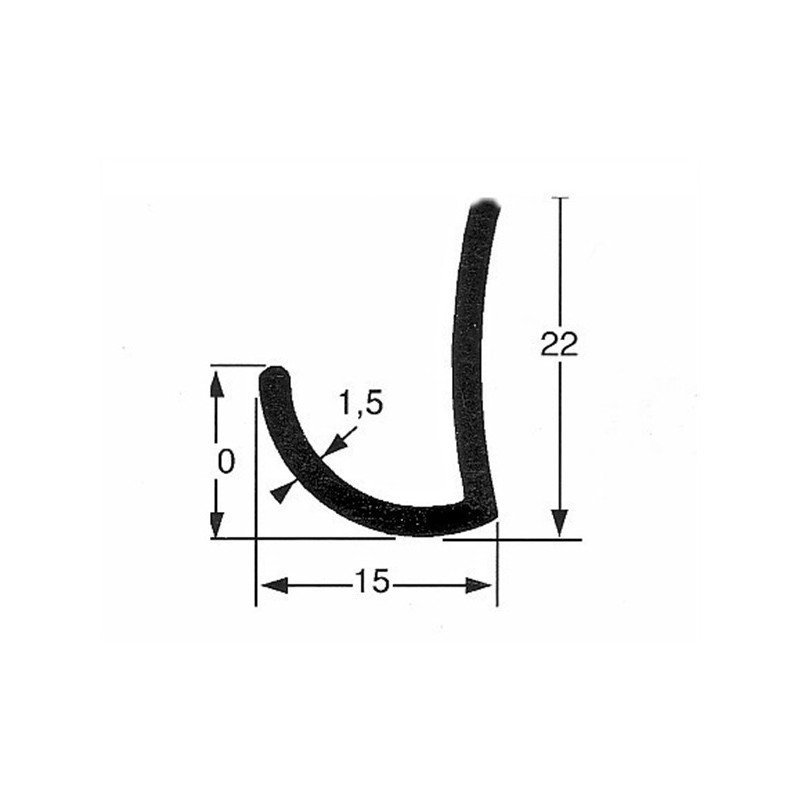 GOUTTIERE ALU 22X15 (5 M)